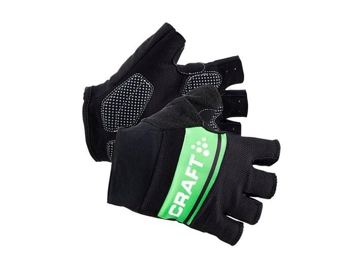 Cyklistické rukavice CRAFT Classic Men černá-zelená   CEMOS