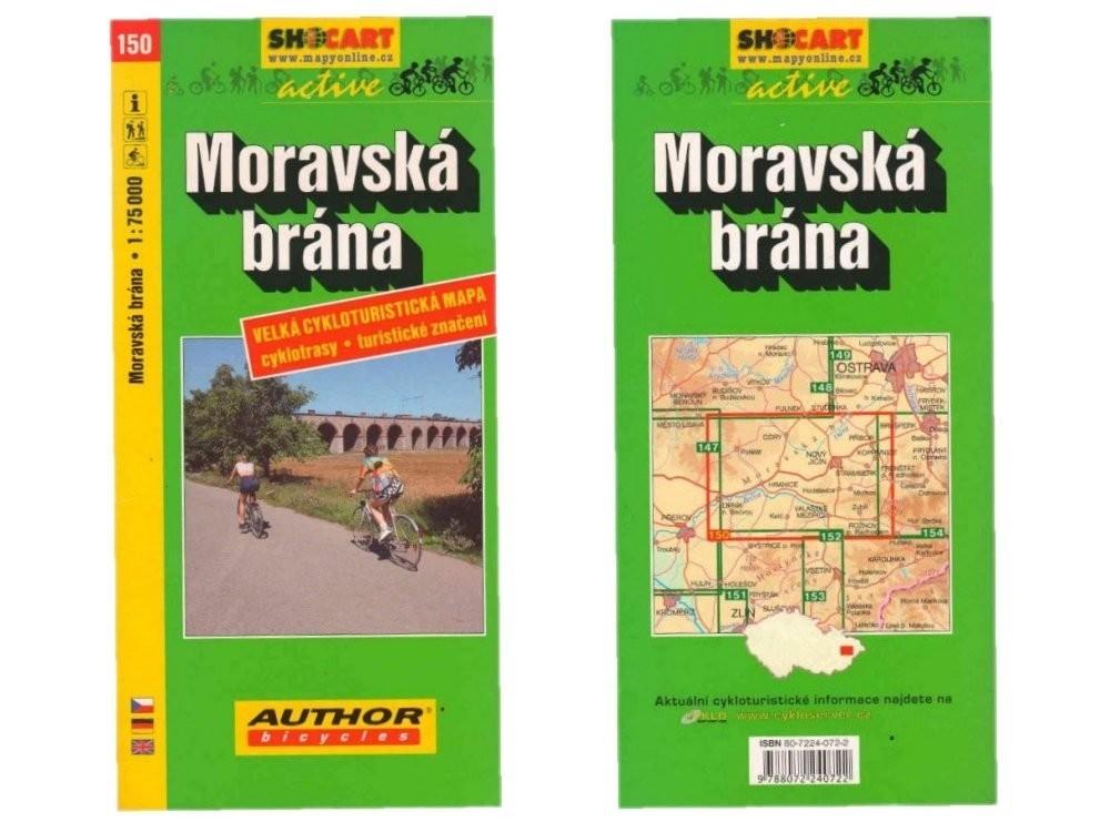 Mapa Shocart C 150 Moravska Brana Cyklo 1 75 000 Cemos